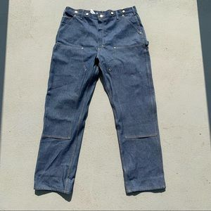 Carhartt 40x34 Double Front Logger Dungarees Jeans